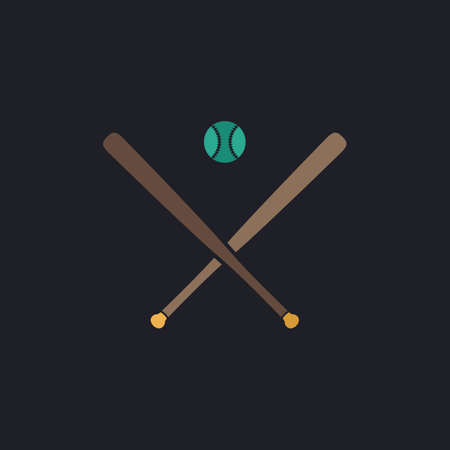 outfield: baseball Color vector icon on dark background