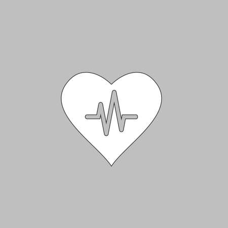 life line: Life line Simple line vector button. Thin line illustration icon. White outline symbol on grey background