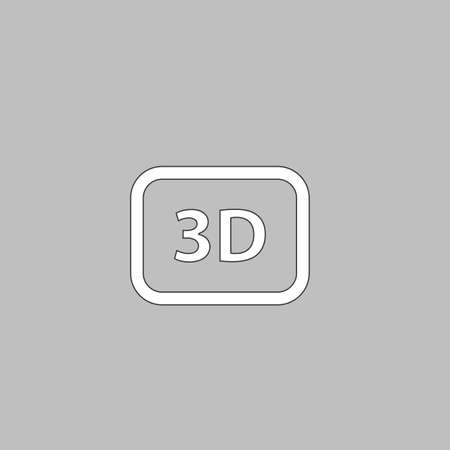 stereoscope: 3D Simple line vector button. Thin line illustration icon. White outline symbol on grey background Illustration