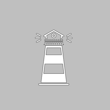 hope symbol of light: Lighthouse Icon Vector. Flat simple color pictogram Illustration