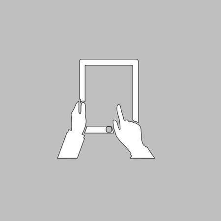 pictogrammes: Touch screen Icon Vector. Flat simple color pictogram
