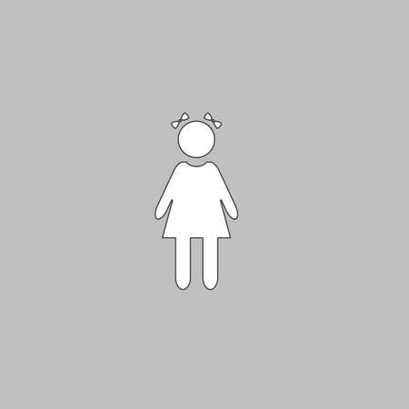 女の子アイコン ベクトル シンプルなフラット カラー絵文字のイラスト素材 ベクタ Image