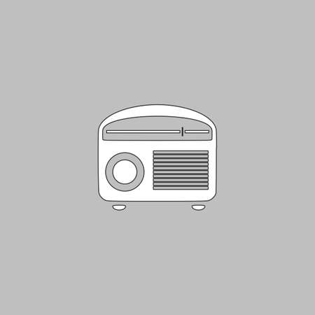 tuner: Tuner Icon Vector. Flat simple color pictogram Illustration