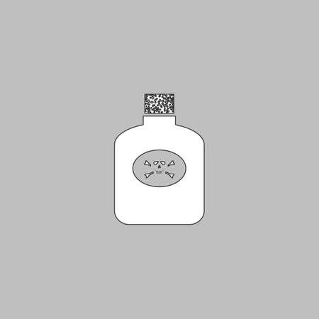 bane: Poison Simple line vector button. Thin line illustration icon. White outline symbol on grey background Illustration