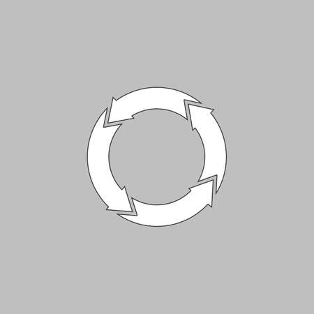reflection of life: organic Simple line vector button. Thin line illustration icon. White outline symbol on grey background