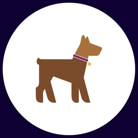 dalmatian: Dog Simple vector button. Illustration symbol. Color flat icon