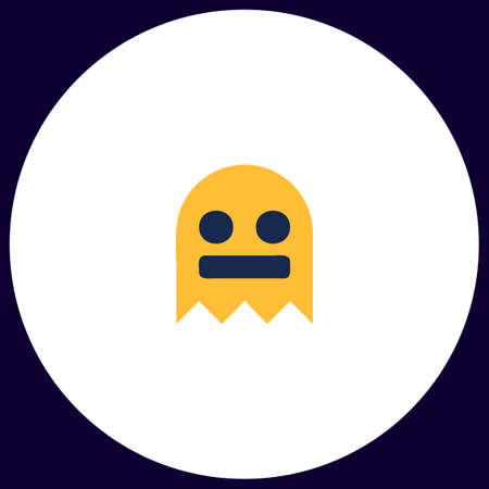 ghost Simple vector button. Illustration symbol. Color flat icon