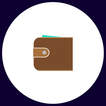 pouch: pouch Simple vector button. Illustration symbol. Color flat icon Illustration