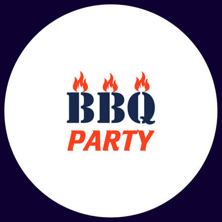 Barbecue BBQ Icoon. Barbecue BBQ Logo. Barbecue BBQ-symbool ...