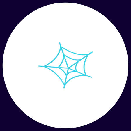 spinning: Spiderweb Simple vector button. Illustration symbol. Color flat icon Illustration