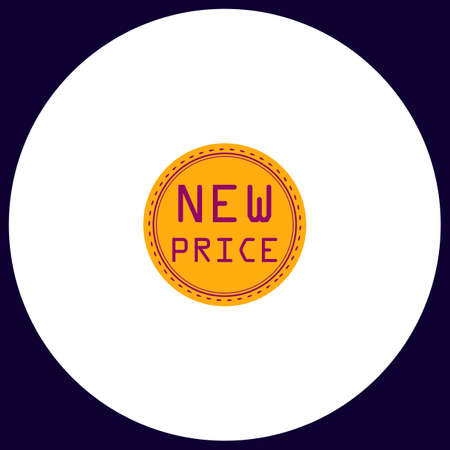 best buy: New Price Simple vector button. Illustration symbol. Color flat icon Illustration