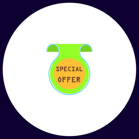 Special Offer Simple vector button. Illustration symbol. Color flat icon