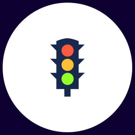 pedestrian traffic lights: Semáforos botón vector simple. ilustración de símbolo. icono de color plana