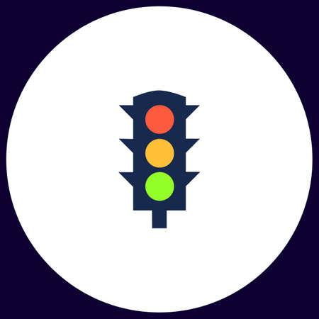 traffic lights: Traffic lights Simple vector button. Illustration symbol. Color flat icon