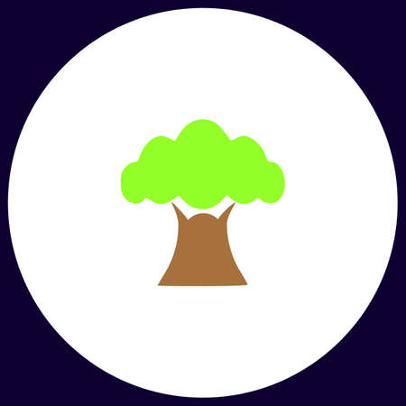 baobab: Baobab Simple vector button. Illustration symbol. Color flat icon Illustration