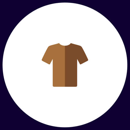t-shirt Simple vector button. Illustration symbol. Color flat icon