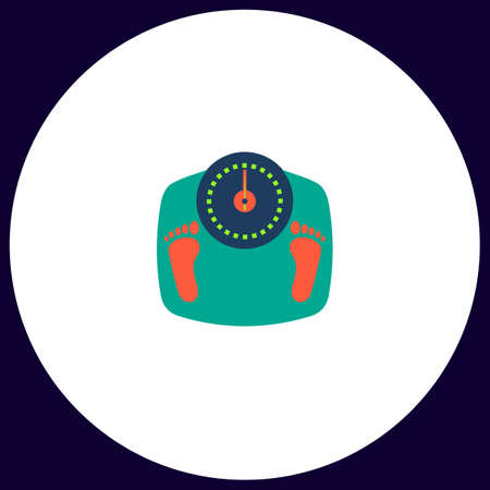 Bilancia in bagno pulsante Semplice vettore. illustrazione simbolo. icona piatto a colori