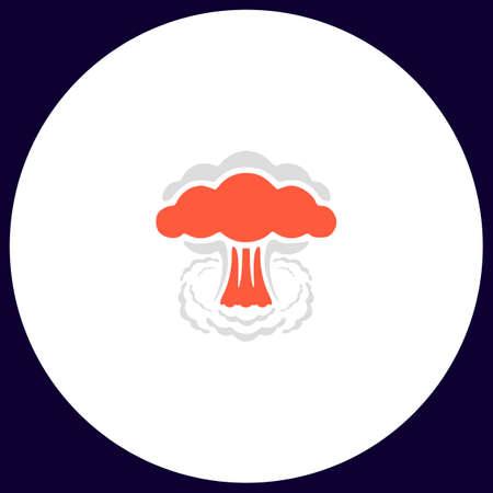 explosion Simple vector button. Illustration symbol. Color flat icon