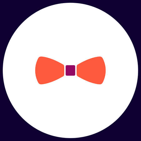 bow tie Simple vector button. Illustration symbol. Color flat icon Illustration
