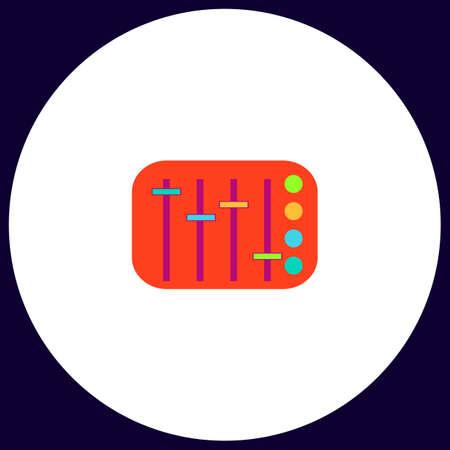 Sound Mixer Eenvoudige vector knop. Illustratie symbool. Kleur platte pictogram Vector Illustratie