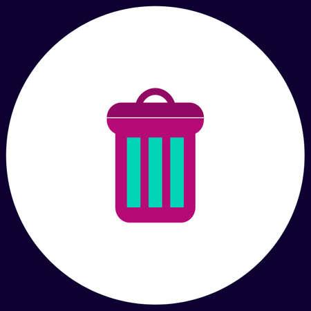utilize: utilize Simple vector button. Illustration symbol. Color flat icon