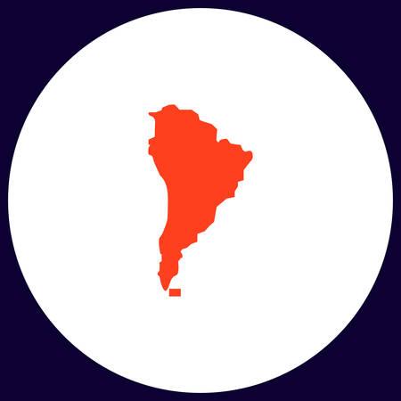 América del Sur Botón simple del vector. ilustración de símbolo. icono de color plana Vectores