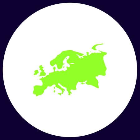 eurasia: Eurasia Simple vector button. Illustration symbol. Color flat icon