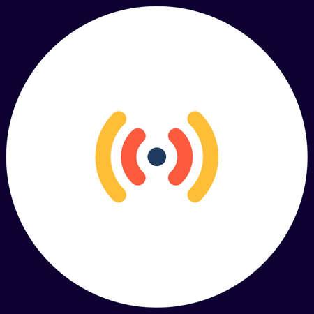 Wi-Fi Simple vector button. Illustration symbol. Color flat icon