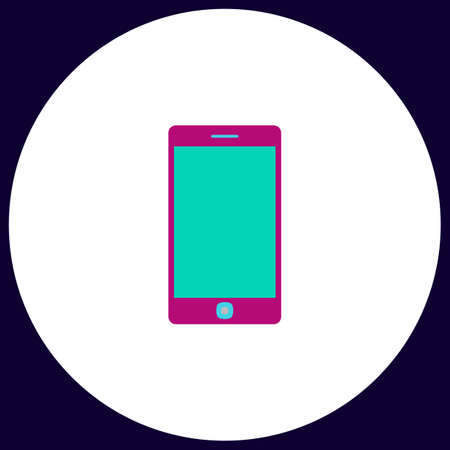 touch phone: touch phone Simple vector button. Illustration symbol. Color flat icon Illustration