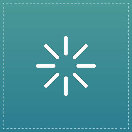 Waiting, Streaming, Buffering, Play, Go. please wait. White flat icon with black stroke on blue background