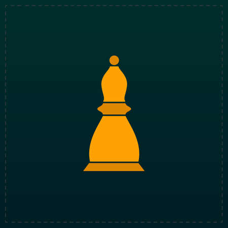 Chess officer. Color symbol icon on black background. Vector illustration