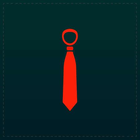 Tie. Color symbol icon on black background. Vector illustration Illustration