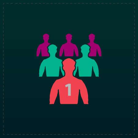 Leadership. Color symbol icon on black background. Vector illustration