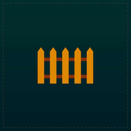 coarse: Fence icon. Color symbol icon on black background. Vector illustration