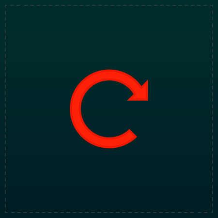 Rotation Arrow. Color symbol icon on black background. Vector illustration