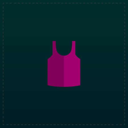Shirt. Color symbol icon on black background. Vector illustration