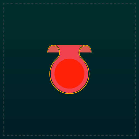 Empty Label Design. Color symbol icon on black background. Vector illustration Illustration