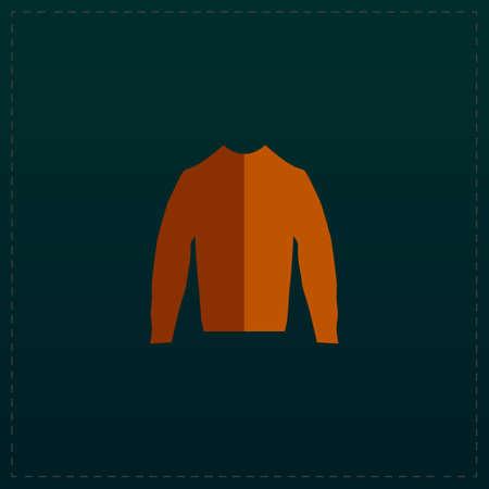 Clothing sweater Pictogram. Color symbol icon on black background. Vector illustration Illustration