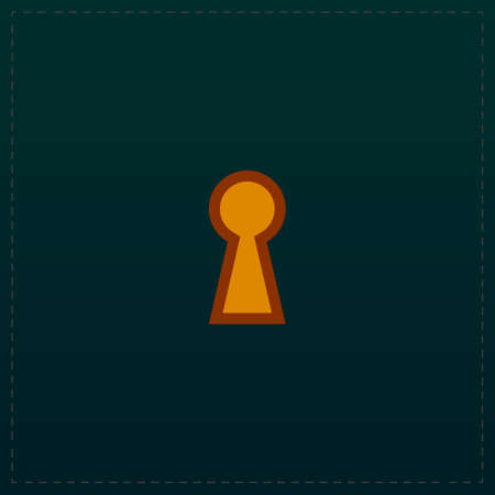 Keyhole. Color symbol icon on black background. Vector illustration