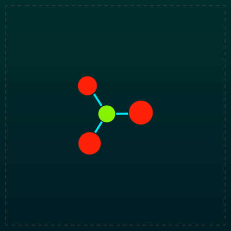Molecule. Color symbol icon on black background. Vector illustration