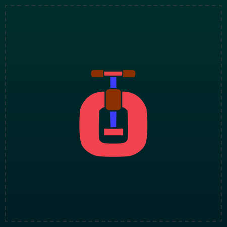 Bench vices. Color symbol icon on black background. Vector illustration Illustration