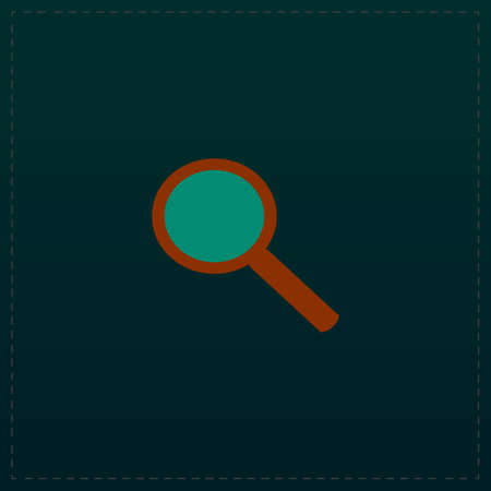 Search. Color symbol icon on black background. Vector illustration