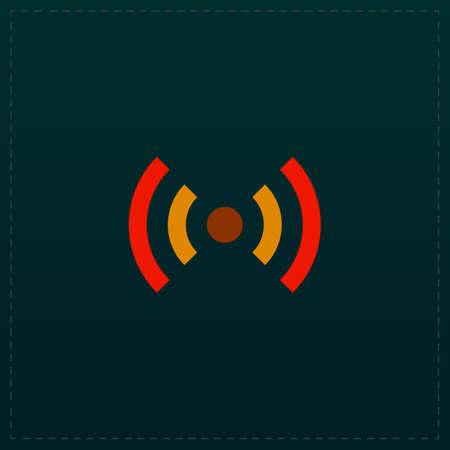 Flat  Color symbol icon on black . Vector illustration Illustration