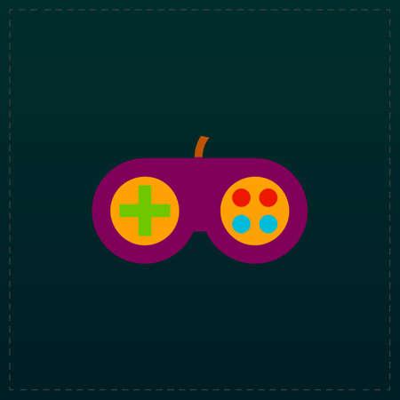 Joystick. Color symbol icon on black background. Vector illustration