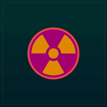 fission: Radiation Color symbol icon on black background. Vector illustration
