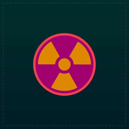 Radiation Color symbol icon on black background. Vector illustration