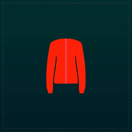 outer clothing: Jacket. Color symbol icon on black background. Vector illustration
