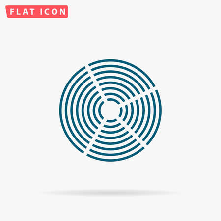 unexplained: Diagram Icon Vector. Flat simple Blue pictogram on white background. Illustration symbol with shadow