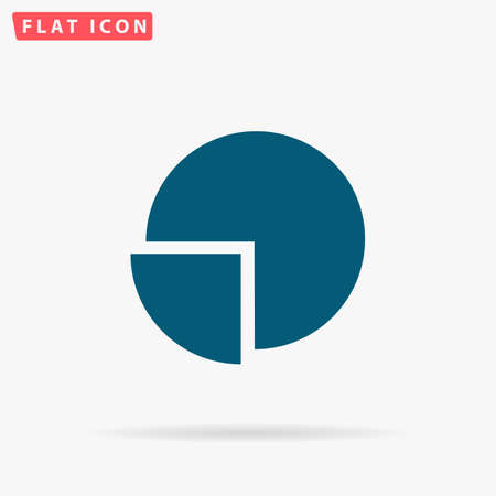 Diagram Icon Vector. Flat simple Blue pictogram on white background. Illustration symbol with shadow