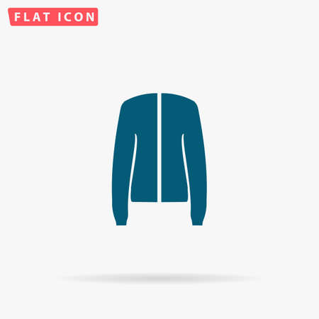 coatee: Coat Icon Vector. Flat simple Blue pictogram on white background. Illustration symbol with shadow Illustration